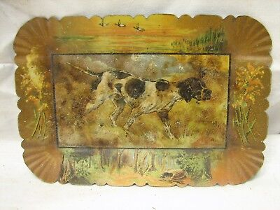 Vintage Advertising Bar Tip Tray Pointer Game Bird Duck Hunting Dog Young Jingo