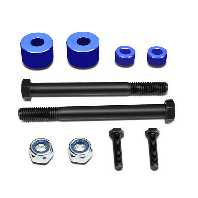 """Fit 2007-2017 Toyota Tundra 4WD/AWD Blue 1""""Front Differential Drop Kit Spacers"""