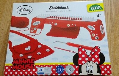 Minnie Mouse Stitchbank Knitting board/loom kit set by Lena 6+ BNIB (handbag