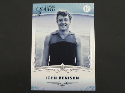 2018 Greats Of The Game Base Cards John Benison