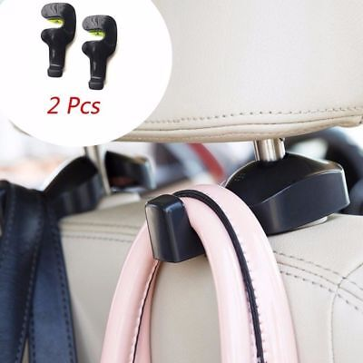 2pcs Vehicle Universal Car Back Seat Headrest Hook Hanger Holder for Bag Purse F