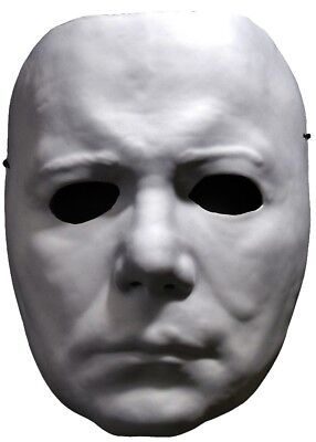Michael Myers Halloween Ii Costume Face Vacuform Mask Adult Mens Blank Official