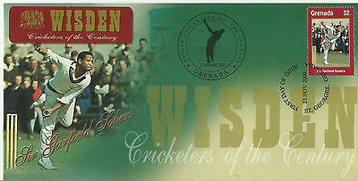 GRENADA WISDEN 2000 CRICKET SIR GARFIELD SOBERS 1v FIRST DAY COVER No 1 of 4