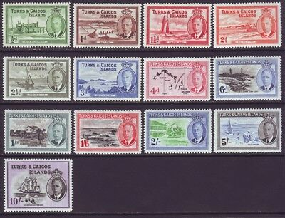 Turks & Caicos Islands 1950 SC105-117 MH Set