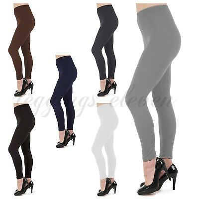 Womens Ladies Full Length Leggings High Quality Soft Microfibre Plus Sizes 6-26