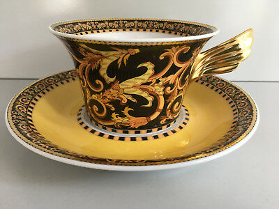 Rosenthal meets VERSACE Barocco TEA CUP and Saucer 6 1/4 Inch New