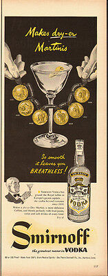 1952 Vintage ad for Smirnoff Vodka/Dryer Martinis (081913)