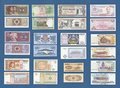 Banknotes World Currency Money Set (13) Bills