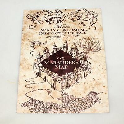 1e64dda0f4 Harry Potter The Marauder's Map Hogwarts School of Witchcraft & Wizardry  **NEW**