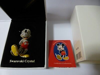 Swarovski Arribas Limited Edition Jewelled Mickey Mouse + Original Order Form