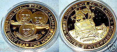 Apollo 11 Gold Coin Buzz Aldrin Lightyear Americana Sci-Fi Film Movie Genre Book
