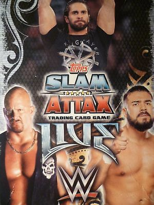 Slam Attax  Live Raw 25 Years  Cards   049 To 080  By Topps           Choose