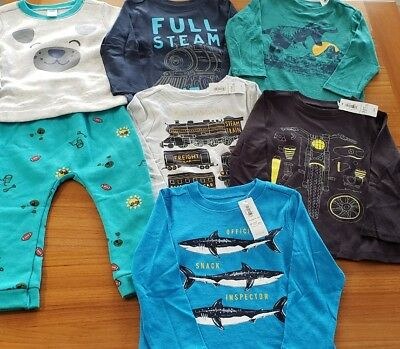 Old Navy Boys 18-24 MONTH Long Sleeve Shirts 7 PIECE Clothing Lot  #12-168-818