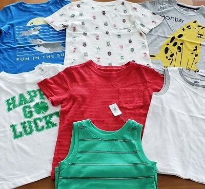Old Navy Boys 3T Short Sleeve Clothing Lot 7 PIECES Tees Tanks SUMMER #14-170-18