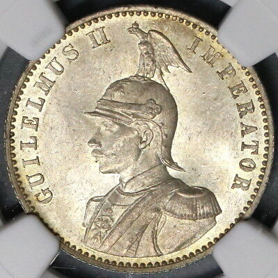 1891 NGC MS 63 German East Africa 1/2 Rupie Silver Coin 68K Minted (18072701C)