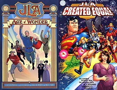 JLA Created Equal 1-2 Complete Near Mint lot Set Run