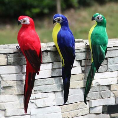Realistic Parrot Ornament Birds Imitation Animal Outdoor Garden Lawn Tree Decor