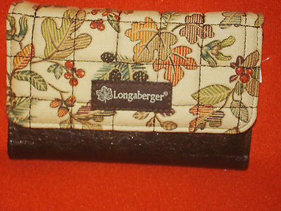 AUTUMN PATH Wallet Longaberger to match Purse New