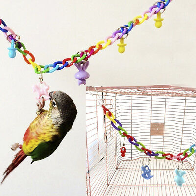 Colorful Bird Toy Parrot Swing Cage Hang For Parakeet Cockatiel Budgie Lovebird