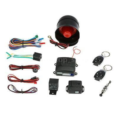 Universal Car Vehicle Security System Burglar Alarm Protection Anti-theft Q6T2