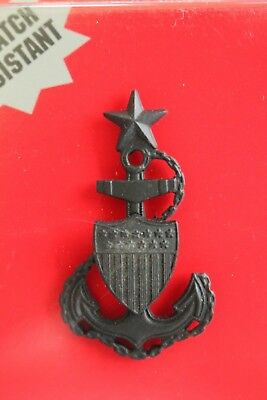 Uscg Us Coast Guard Reduced Size E-8 Chief Petty Officer Rates Subdued Cap Badge