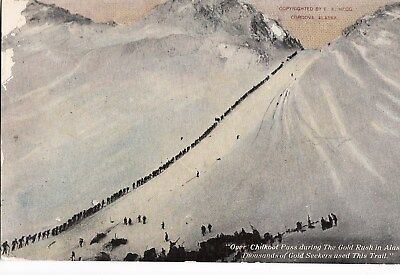 po united states usa america early old antique postcard alaska gold rush mining