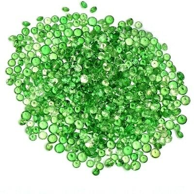 Wholesale Lot of 1mm to 3mm Round Tsavorite Green Garnet Loose Calibrated Gems