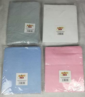 2 x Fitted Sheets Space Saver / mini Cot - 100% Cotton - White fit 100 x 52.5 cm