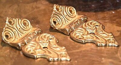 Pair Of Heavy Brass Box Hinges High Quality Victorian Reproduction