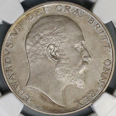 1902 NGC PF 63 Edward VII 1/2 Crown Matte Proof GREAT BRITAIN Coin (18072803C)
