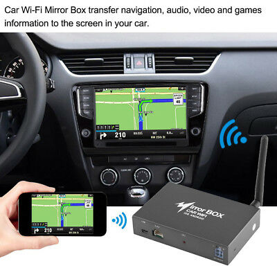 Car WIFI Mirror converter Link Box for iOS Android Smartphone to LCD DLNA 12V UK