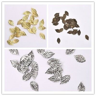 100pcs/lot Sliver/Gold/Brass Color Leaves Hairpin Jewelry DIY Findings 18*10mm