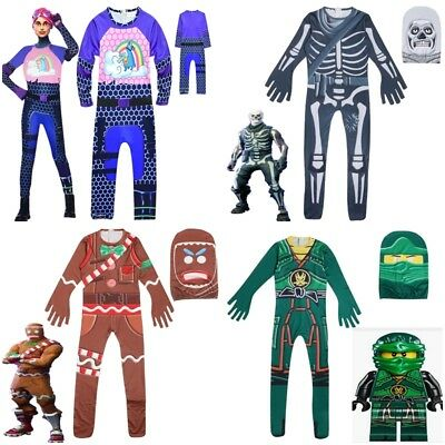 Kids Boys Fortnite Cosplay Costume Fancy Halloween Party Jumpsuit Outfits Dress
