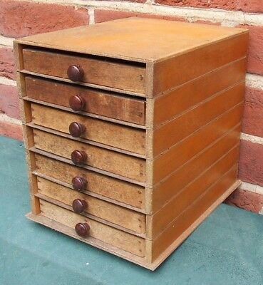 Letterpress Printing Adana Wooden Sectional Typecase Cabinet and 7 small drawers