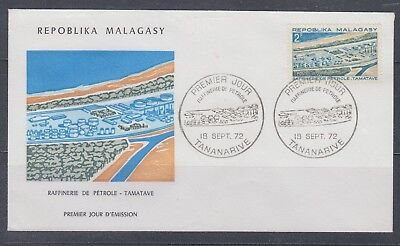 Malagassy 1972  Oil Refinery Sc 475 on FDC