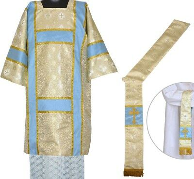TRADITIONAL GOLD BROCADE DALMATIC Stags Eagles, Church