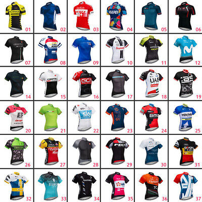 2018 Mens Cycling Jersey Clothing Bicycle Sportswear Short Sleeve Bike Shirt Top