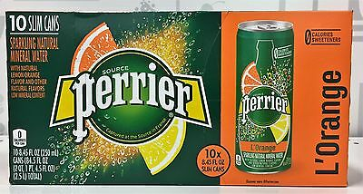Perrier L'Orange Sparkling Natural Mineral Water 10 pack Orange