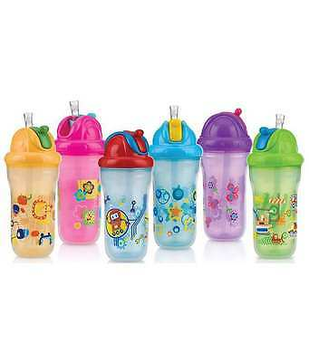 Nuby Insulated Flip-It Beaker 270ml 12-18m - choose your colour!