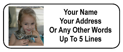 30 Custom Photo / Graphic Personalized Address Labels
