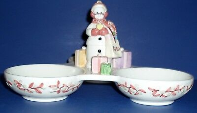 SNOWLADY BY AVON THREE SECTIONAL Treat DISH FOR 2003 Presidents Club Members