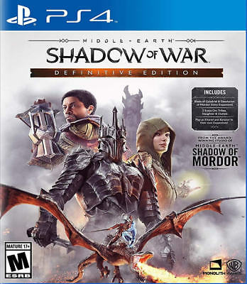 Middle-Earth: Shadow of War Definitive Edition PS4 New PlayStation 4,PlayStation