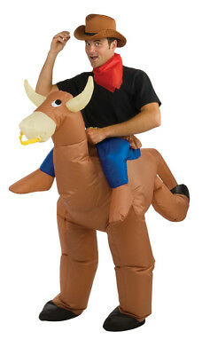 Inflatable Bull Rider Adult Costume Standard One Size Fits Most