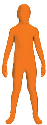 Disappearing Man Stretch Costume Jumpsuit Teen: Orange One Size Fits Most