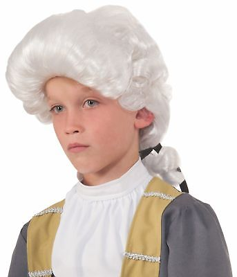 Colonial Male Deluxe Child Costume Wig