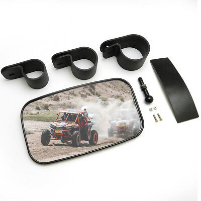 "Rear Side View Mirror Set UTV 1.5"" - 2"" High Impact Break Away Convex Roll Cage"