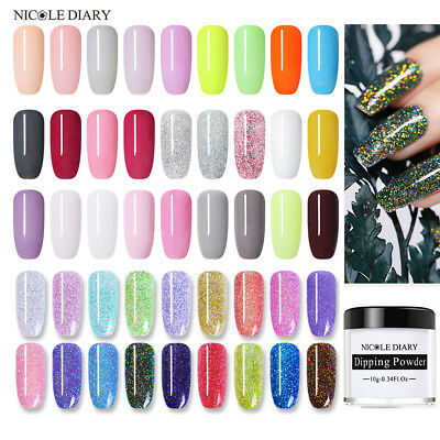 10ml NICOLE DIARY Nail Dip Dipping Powder 27 Colors Manicure Decoration