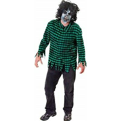 Grüne Männer Zombie-shirt & Maske - Mens Halloween Zombie Mask Fancy Dress