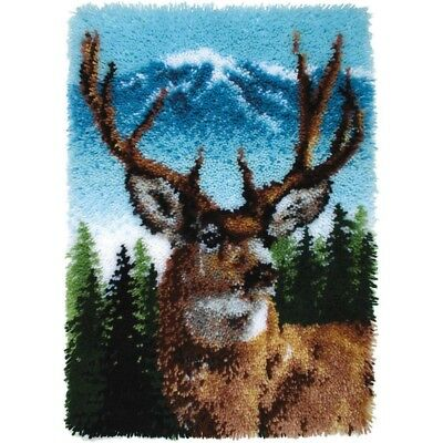 Latch Hook Caron Cla Deer - Classic Wonderart x Collection Rug Making Spinrite