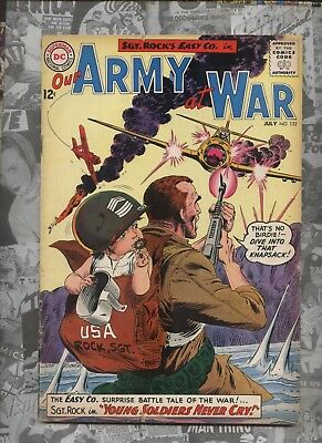 Our Army at War 132  Dc silver age comic Sgt. Rock  Easy Co.  Kubert art
